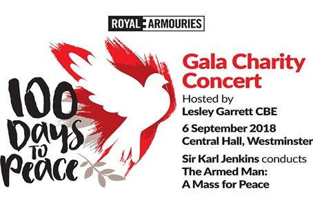 100 Days to Peace Concert to support military charities