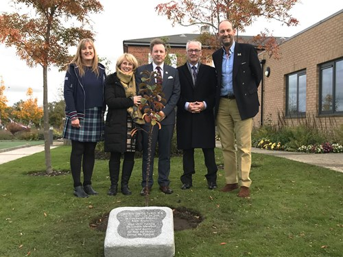 Memorial stone placed for Captain David Seath 2019