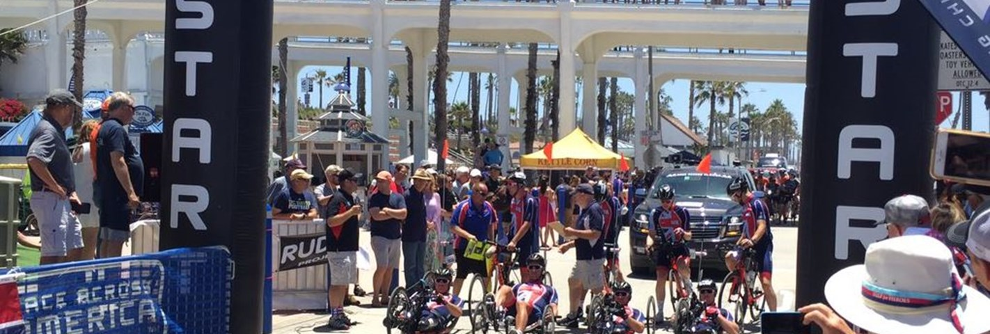 Team H4H set off on their Race Across America