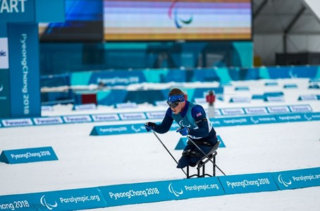 Scott competes at the Paralympic Games