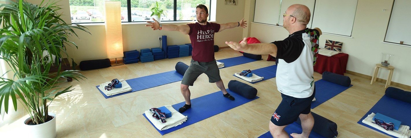 Beneficiary Paul Nichol discovers the benefits of yoga in recovery
