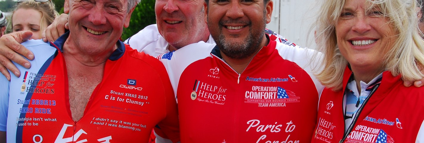 Stuart is cycling for our Heroes