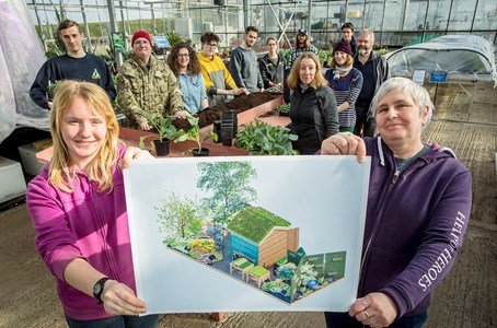 Veterans and Students work together to create Chelsea Flower Show garden