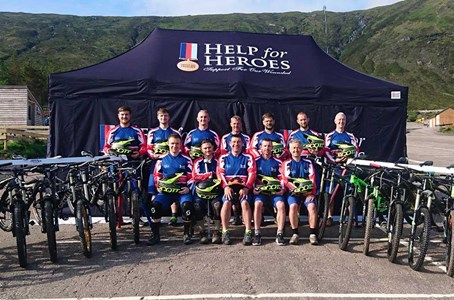 Hell of a Mountain challenge for  Help for Heroes team