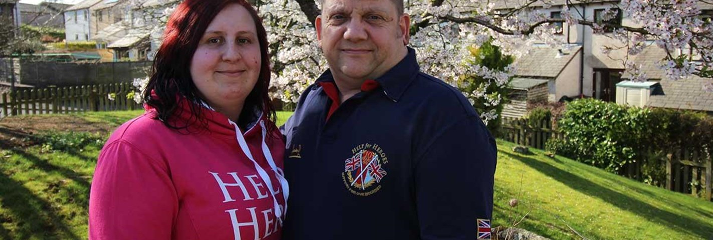 Cumbrian couple urges wounded veterans to seek support