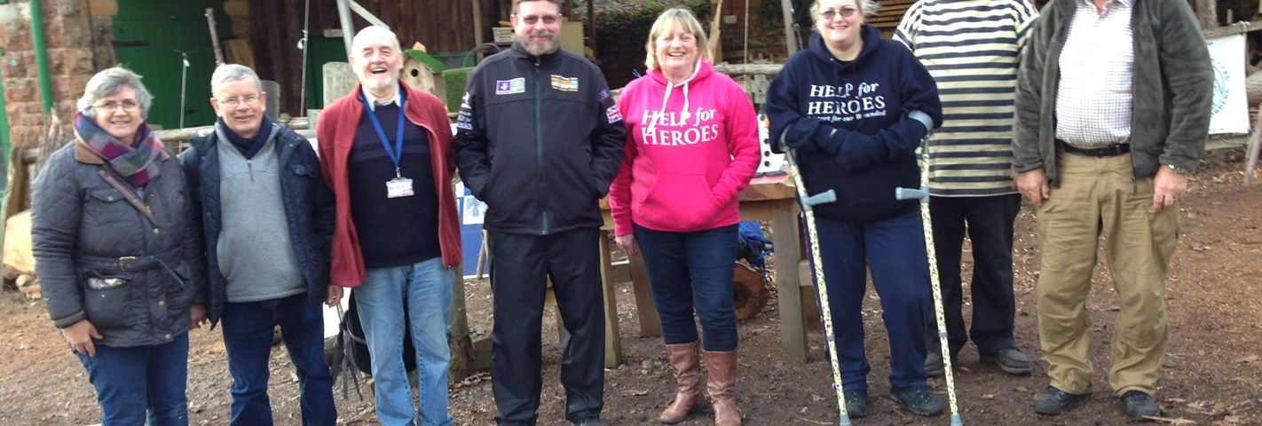 Somerset Bodgers teach wounded veterans woodworking skills